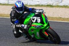 Rider Alain Raskin Team Rapid Moto Endurance Arkivfoton