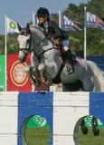 Rider Annelies Vorsselman (BEL). VIMEIRO, PORTUGAL - JUNE 6: Equestrian International Show Jumping 3* - Annelies Vorsselman (BEL) June 6, 2010 in Vimeiro Stock Photography