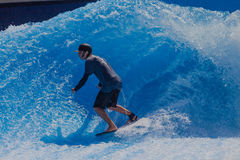 Surfing Fun Wave Pool Stock Image