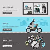 Rider Banner Set Royalty Free Stock Images