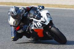 Rider Bruno Guerrero. Team Milcamins Competicio. Royalty Free Stock Image