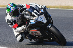 Rider Cedric Gaud Team Piste-libre Ausdauer lizenzfreie stockfotografie
