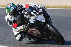 Rider Cedric Gaud. Team Piste libre Endurance. Royalty Free Stock Photography
