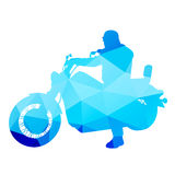 Rider on a chopper Stock Images