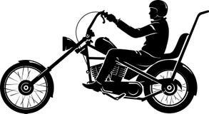 Rider Chopper Motorcycle fácil Fotos de Stock