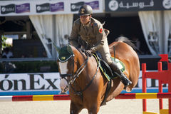 Rider Coata, Simone. CSIO Barcelona. Royalty Free Stock Images