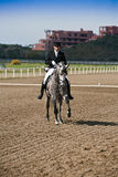 Rider competing in dressage competition classic, Mijas Royalty Free Stock Images