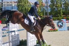 Rider DE LUCA, Lorenzo Italia CSIO Barcelona fotografía de archivo libre de regalías