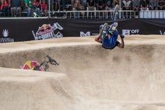 Rider Does un tirón Imagenes de archivo