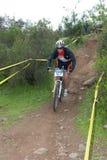 Rider downhill Stock Image
