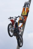 Rider El loco Miralles. FMX Freestyle Stock Image