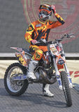 Rider El loco Miralles. FMX Freestyle Royalty Free Stock Image