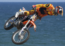 Rider El loco Miralles. FMX Freestyle Royalty Free Stock Images