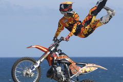 Rider El loco Miralles. FMX Freestyle Stock Images