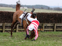 Rider falling Royalty Free Stock Image