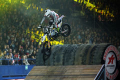 Rider at the Freestyle Motocross Stock Photos