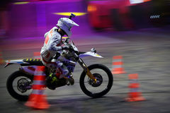 Rider at the Freestyle Motocross Stock Image