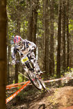 Rider at Greg Minaar Racing and Mongoose Downhill Royalty Free Stock Photography