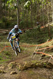 Rider at Greg Minaar Racing and Mongoose Downhill Stock Photos