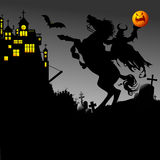 Rider and halloween Stock Photography
