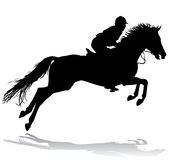 Rider on horse 3. Rider. Jockey riding a horse. Horse races. Competition Royalty Free Stock Photo