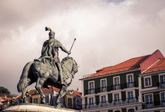 Rider and horse statue Royalty Free Stock Images