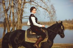 The rider on the horse Royalty Free Stock Photos