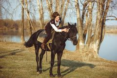 The rider on the horse Royalty Free Stock Images