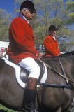 Rider on horseback. Observing steeplechase field, Prind Steeplechase Glenwood Park, Middleburg, Virginia Stock Photo