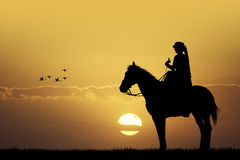 Rider on horseback Royalty Free Stock Photo