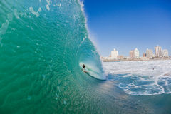 Rider Inside Wave Surf City  Stock Photography