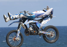 Rider Jabato Xavi Dols. FMX Freestyle. Royalty Free Stock Images