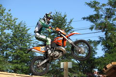 Rider jumping over Stock Photos
