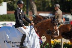 Rider KUTSCHER, Marco. CSIO Barcelona Royalty Free Stock Image