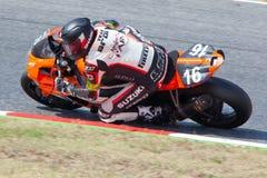 Rider Laurent Pluquet Team Broke Racing imagen de archivo libre de regalías