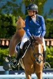 Rider LEPREVOST, Pénélope. France. CSIO Barcelona. Royalty Free Stock Photography