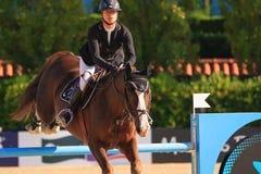 Rider Marie Hecart. CSIO Barcelona Stock Photo