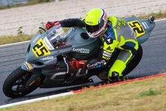 Rider Massimiliano Chetry Equipo de la bujía métrica Turons Imagen de archivo libre de regalías