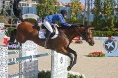 Rider MELCHIOR, Judy-Ann. CSIO Barcelona. CSIO Barcelona. 103rd International Jumping Competition. Furusiyya FEI Nations Cup Stock Image