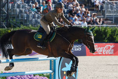 Rider MONETA Luca Maria. CSIO Barcelona Royalty Free Stock Photos