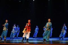 Rider-Mongolia folk dance Stock Image