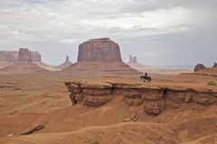 Rider in Monument Valley Royalty Free Stock Image