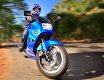 Rider in motion Stock Photography