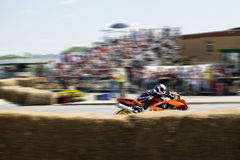 Rider in motorcycle race Royalty Free Stock Images