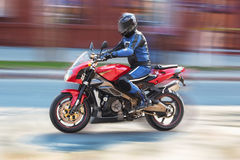 Rider on motorcycle Royalty Free Stock Images