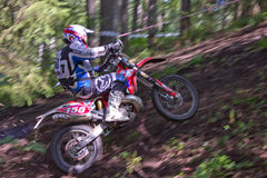 Rider moving over rough terrain Royalty Free Stock Photo