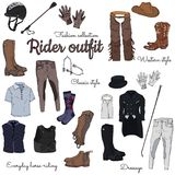 Rider outfit royalty free illustration