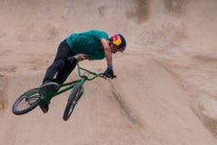 Rider Performs Stunt Imagen de archivo libre de regalías