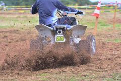 Rider on a quad motorbike. Stock Photography