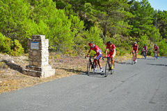 Cycle racing Stopping On The Roadside Royalty Free Stock Image